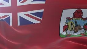 Bandeira de Bermuda que acena no mastro de bandeira no vento, símbolo nacional da liberdade ilustração royalty free