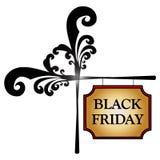 Bandeira de Black Friday Fotos de Stock Royalty Free
