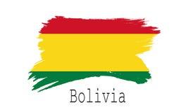 Bandeira de Bolívia no fundo branco Fotografia de Stock