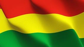 Bandeira de Bolívia que acena no vento ilustração stock