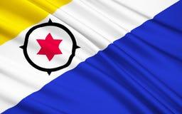 Bandeira de Bonaire, St Eustatius e Saba Caribbean Netherlands ilustração royalty free