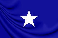 Bandeira de Bonnie Blue dos estados de América confederados Imagens de Stock Royalty Free