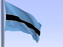 Bandeira de Botswana Foto de Stock