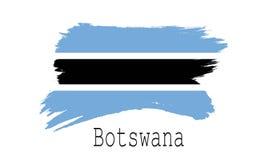 Bandeira de Botswana no fundo branco Imagem de Stock