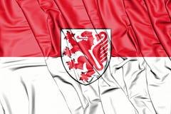 Bandeira de Bransvique, Alemanha Baixa Saxónia ilustração 3D Fotos de Stock