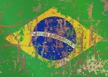 Bandeira de Brasil ilustração stock