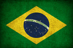 Bandeira de Brasil Foto de Stock
