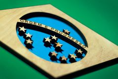 Bandeira de Brasil, corte baixo imagem de stock royalty free