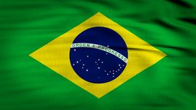 Bandeira de Brasil que acena 4k ilustração royalty free