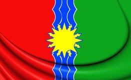 Bandeira de Bratsk Irkutsk Oblast, Rússia Imagem de Stock