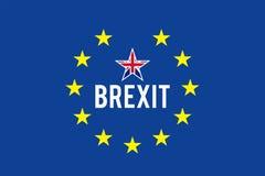 Bandeira de Brexit ilustração royalty free