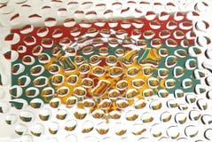Bandeira de Bulgária vista em gotas da água Fotografia de Stock