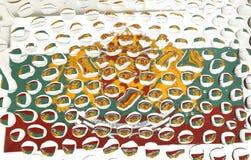 Bandeira de Bulgária vista em gotas da água Fotografia de Stock Royalty Free