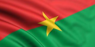 Bandeira de Burkina Faso Imagem de Stock Royalty Free