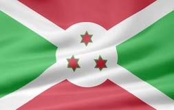 Bandeira de Burundi Fotografia de Stock