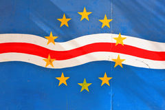 Bandeira de Cabo Verde Fotos de Stock Royalty Free