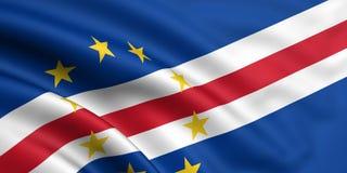 Bandeira de Cabo Verde Foto de Stock