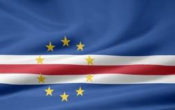 Bandeira de Cabo Verde Fotos de Stock