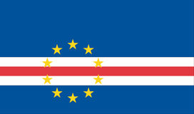 Bandeira de Cabo Verde Imagens de Stock