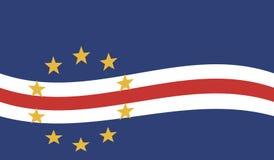 Bandeira de Cabo Verde - república de Cabo Verde Foto de Stock Royalty Free