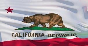 Bandeira de Califórnia, ilustração 3d realística ilustração stock