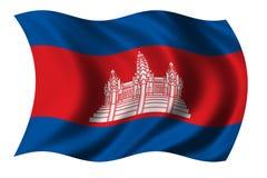 Bandeira de Cambodia Foto de Stock