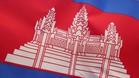 Bandeira de Cambodia vídeos de arquivo