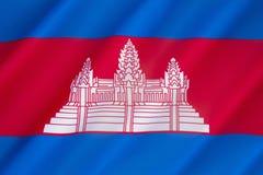 Bandeira de Cambodia Fotos de Stock Royalty Free