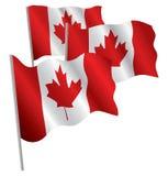 Bandeira de Canadá 3d. ilustração do vetor