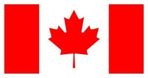 A bandeira de Canadá, cores oficiais e proporciona corretamente ilustração stock