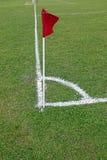 Bandeira de canto do futebol Foto de Stock