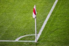 Bandeira de canto do futebol Fotografia de Stock