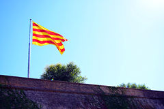 Bandeira de Catalonia Foto de Stock Royalty Free