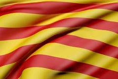 Bandeira de Catalonia ilustração do vetor