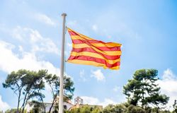 Bandeira de Catalonia Fotos de Stock