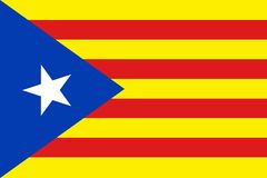 Bandeira de Catalonia da independência ilustração royalty free