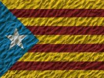 A bandeira de Catalonia pintou na parede Fotos de Stock Royalty Free