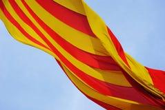 A bandeira de Catalunya Fotos de Stock