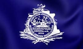 Bandeira de Charleston City South Carolina, EUA Foto de Stock Royalty Free