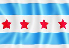 Bandeira de Chicago Fotos de Stock Royalty Free