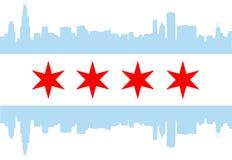 Bandeira de Chicago Fotografia de Stock Royalty Free