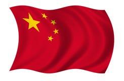 Bandeira de China ilustração royalty free