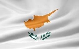 Bandeira de Chipre ilustração do vetor