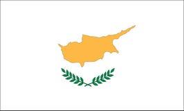 Bandeira de Chipre Fotografia de Stock Royalty Free