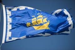 Bandeira de Cidade de Quebec Fotografia de Stock Royalty Free