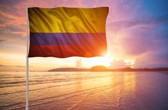 Bandeira de Colômbia Fotos de Stock Royalty Free
