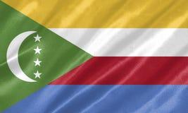 Bandeira de Comores ilustração royalty free