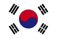 Bandeira de Coreia do Sul Ilustração do vetor ilustração stock