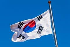 Bandeira de Coreia do Sul, Taegukgi fotos de stock royalty free