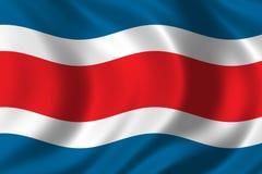 Bandeira de Costa-Rica ilustração royalty free